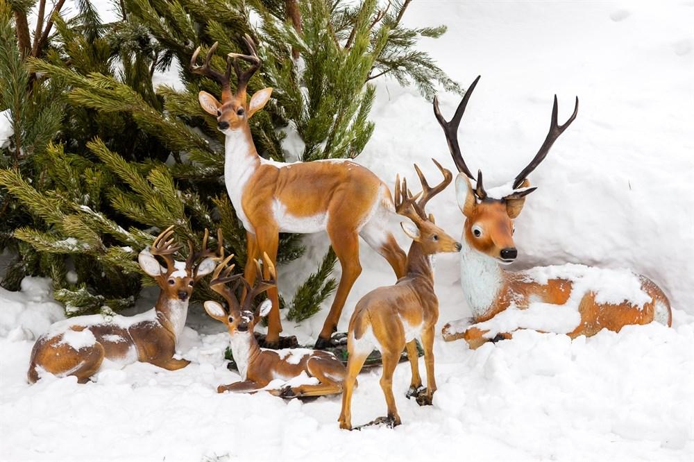 Садово-парковая скульптура Олень лежит - фото 52830