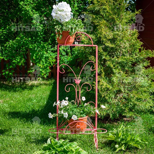 Кованая подставка под цветы - фото 56159