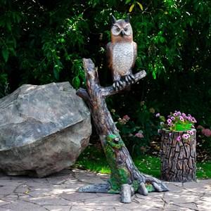 Садовая фигура Сова на ветке