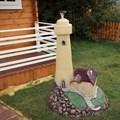 Садовая фигура маяк с домиком