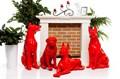 Новогодние фигуры собак